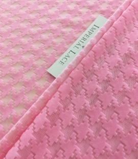 Pink velvet tulle fabric