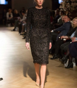 Black haute couture dress