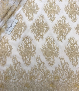 Gold lace fabric