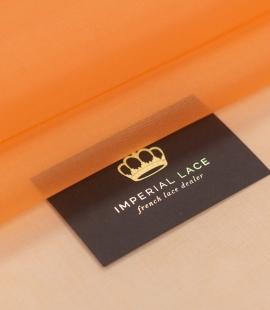 Orange silk organza fabric