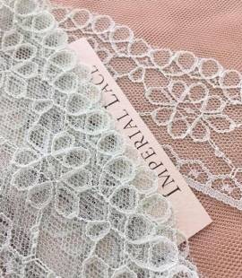 Mint green lace trim