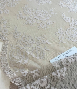 Dark nude lace fabric by the yard
