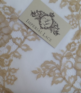 Gold lace trim
