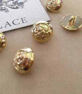 Gold button