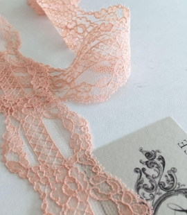 Nude Pink Chantilly lace trim