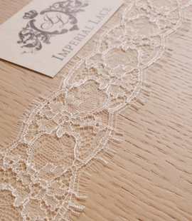 Ivory chantilly natural lace fabric