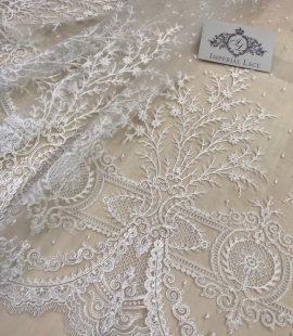 Ivory flowers lace