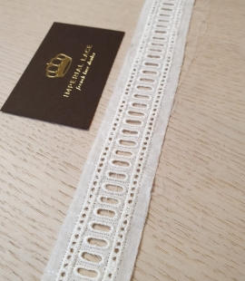 Ivory guipure cotton lace trimming