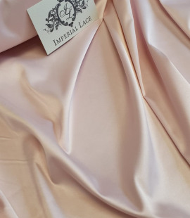 Light pink satin fabric