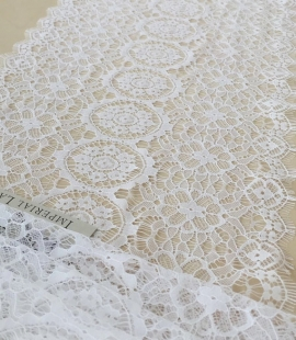 Snow white lace trim