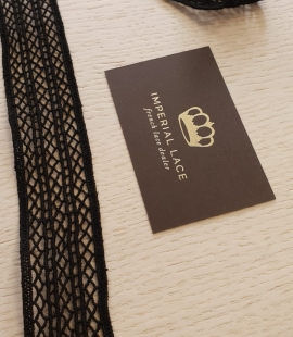 Black 100% cotton macrame lace trimming