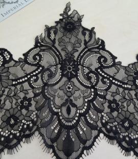 Black Lace Trim 21cm width