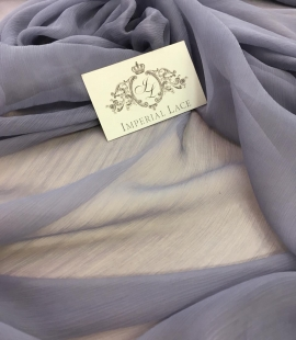 Grey with blue shade chiffon fabric