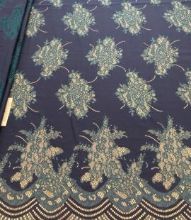 Dark lilac lace fabric