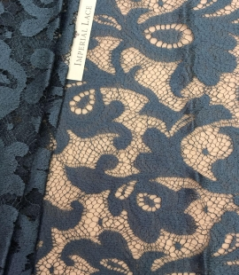 Dark turquoise lace Fabric