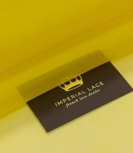 Yellow with green shade silk organza fabric