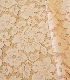 Light pink lace fabric