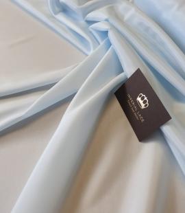 Light blue viscose and elastane lining fabric