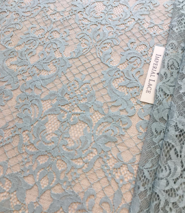 Blue with grey shade lace fabric