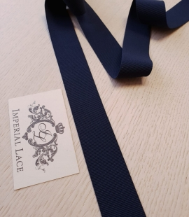 Dark blue rubber ribbon