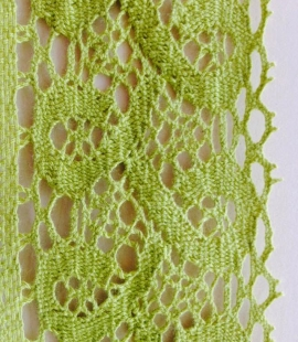 Green cotton lace trimming