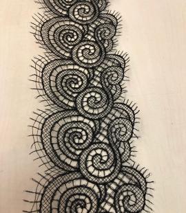 Black lace trim