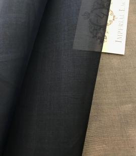Dark blue silk organza fabric