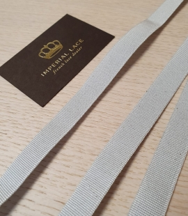 Grey grosgrain viscose ribbon