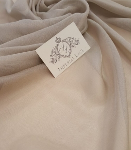 Light grey silk chiffon