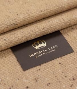 Caramel color wool fabric