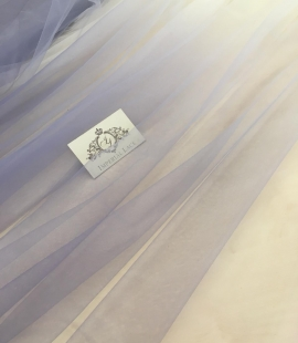 Lilac ombre tulle fabric