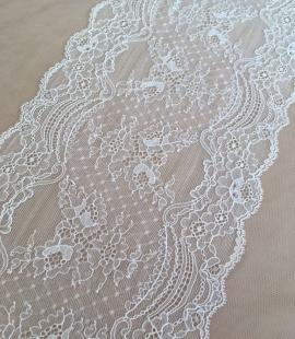 Ivory elastic lace trim