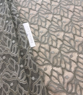 Khaki lace fabric