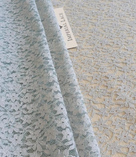 Grey with bluish green base lace fabric