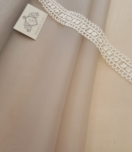 Light grey silk organza fabric