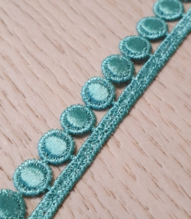 Turquoise shimmer macrame lace trimming