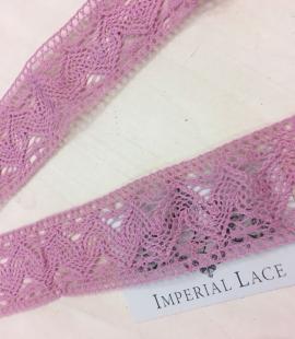 Old rose cotton lace trim