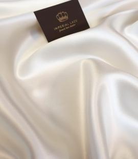Ivory 100% silk thick satin fabric