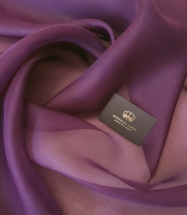 Lilac silk organza for embroidery fabric
