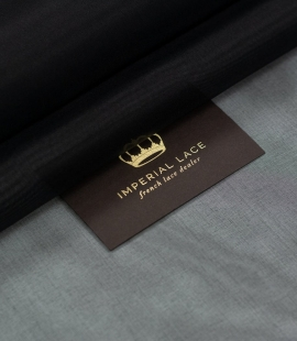 Black silk organza fabric
