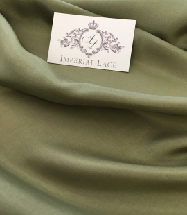 Khaki silk lining fabric