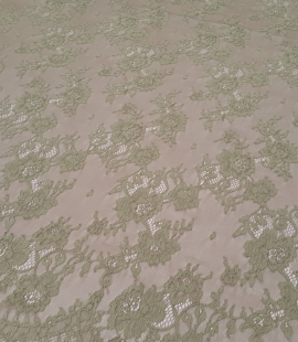 Lace fabric sludge green color