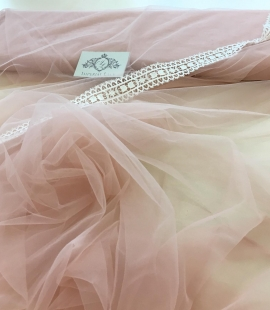 Pink lace tulle