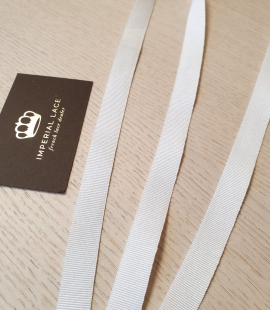 White viscose grosgrain ribbon