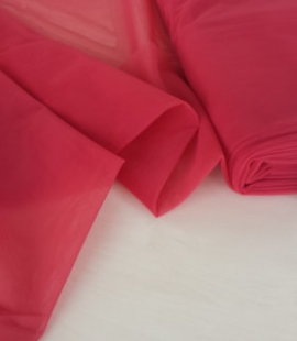 Light red tulle fabric