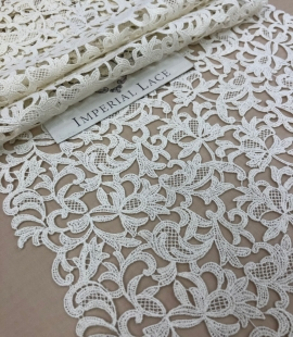 Ecru lace trim