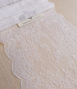 Snow White Chantilly Lace Trim