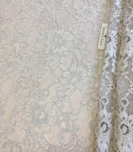 Beige lace fabric