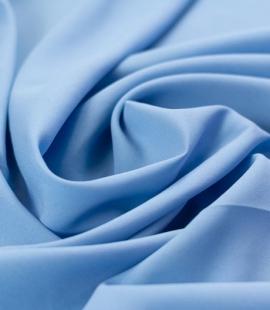 Blue silk with elastane crepe fabric