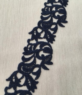 Dark blue lace trimming